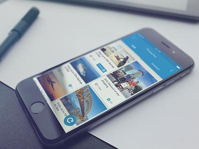 Material Design for iOS App ui interface android ios material app mobile deals ui design