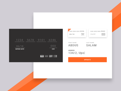 Day 2 - Add Credit Card credit card daily ui design payment checkout ecommerce card challenge