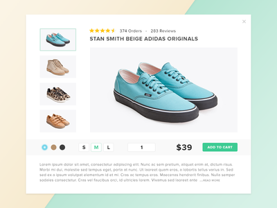 Day 3 - Product Quickview challenge ecommerce quick view design daily ui product