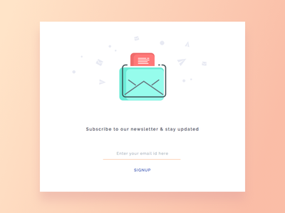 Day 4 - Newsletter Signup product daily ui design newsletter signup email challenge