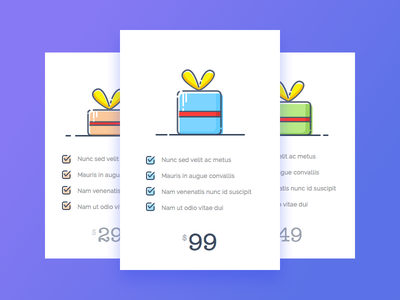 Day 6 - Package Pricing daily ui design price package gift challenge app icons illustration interaction interface