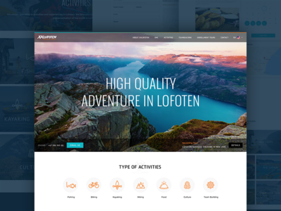 Tour & Travel in Lofoten web design landing page team building lofoten itineraries trip tour travel expedition