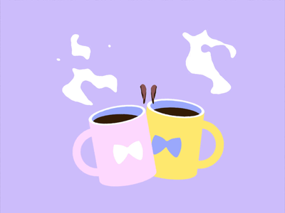 Twin Perks vector illustration vector art animation cheers spill wolfgang animation coffee mug coffee cup coffee 2d after effects motiongraphics 2danimation