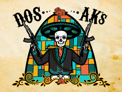 Dos AK's Beer Label