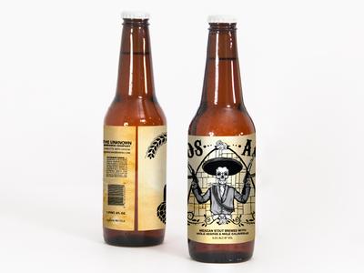 Dos AK's Beer Label, v2