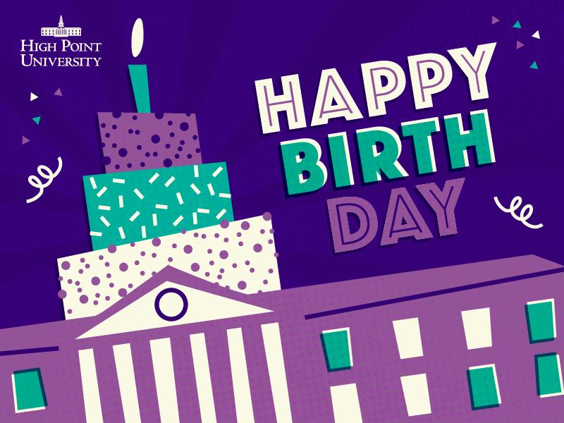HPU Birthday Card happy birthday high point university birthday card birthday