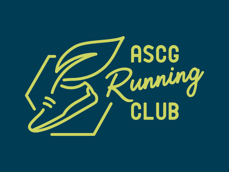 ASCG Running Club Logo running club greenway run club running