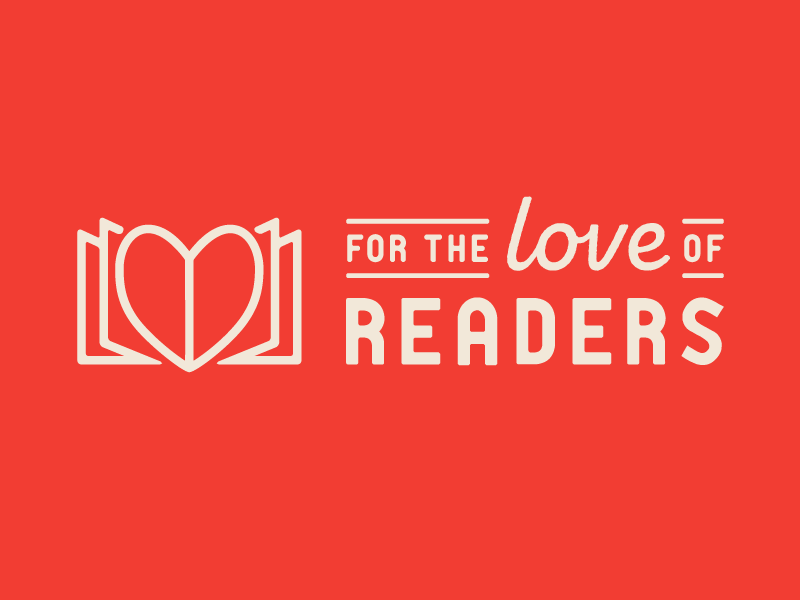 For the Love of Readers Logo reader readers teaching teachers reading logo