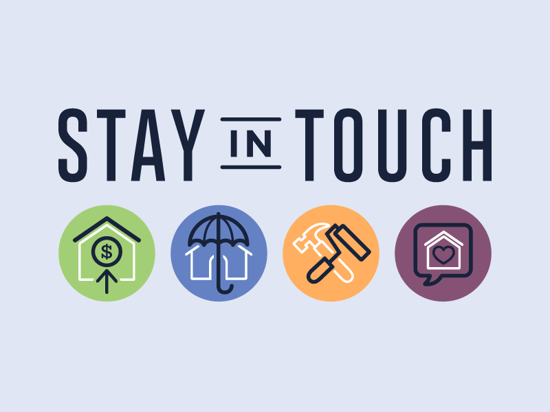 Stay in Touch for Allen Tate Realtors realtor logo realty real estate