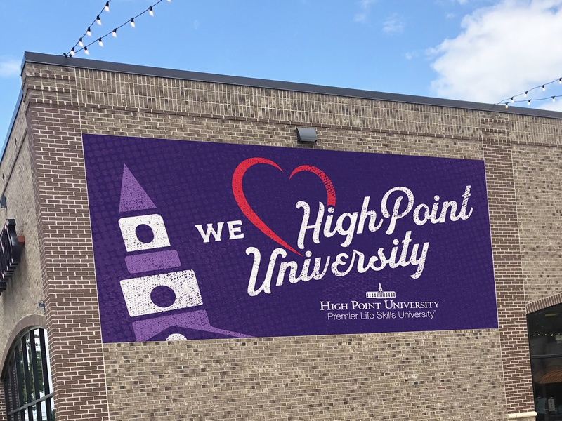 High Point University Mural lettering high point university typography mural