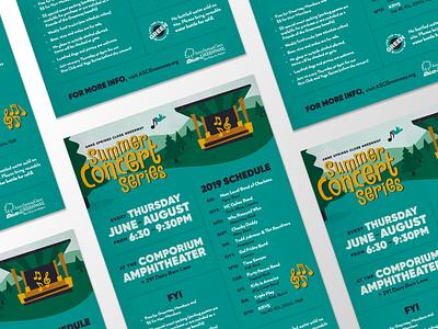 Summer Concert Series Poster amphitheater nature illustration festival poster poster nature concert series concert summer anne springs close greenway