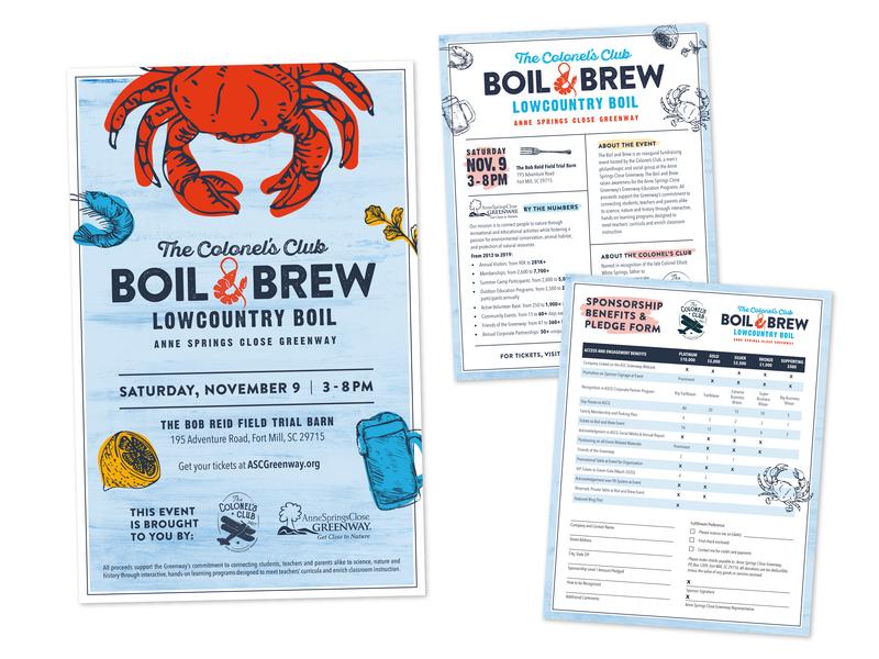 Boil and Brew Poster + Flyer crab lowcountry boil shrimp boil crab boil boil brew