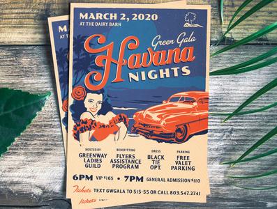 Havana Nights Gala Invitation