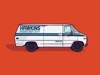 Hawkins Power and Light Van