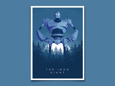 The Iron Giant Print movie free poster robot trees design character texture illustration vector the iron giant