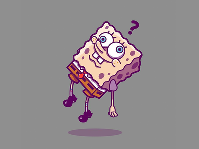 Sponge Bob? funny sneaker texture tv movie cartoon spongebob design character vector illustration