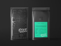 Brew Bros Coffee Roasters geometic pattern bag drink brew packaging design logo icon coffee package design texture vector illustration