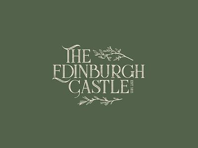 The Edinburgh Castle bar scotland england drink pub texture design icon typography branding logo vector illustration
