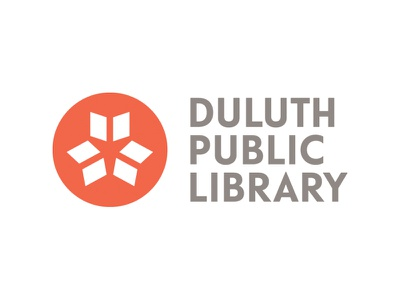 Duluth Public Library scandinavian stacked circle red logo books telefon library duluth