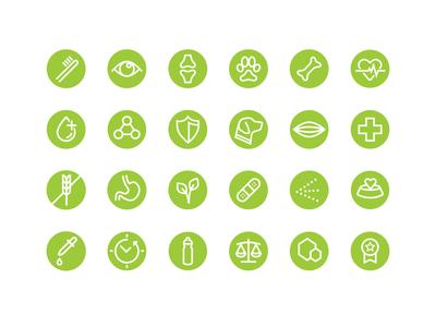 Canine health icons