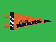 Dribble Weekly Warmup - Chicago Bears Pennant