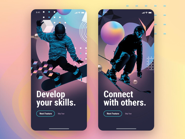 App UI Walkthrough onboarding ui onboarding screens ui app design
