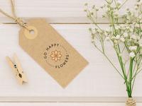 Label Go Happy Flowers