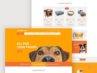 Homepage for dog accessories store