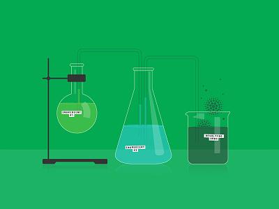 Chemistry Set blog editorial beeker science chemistry vector illustration