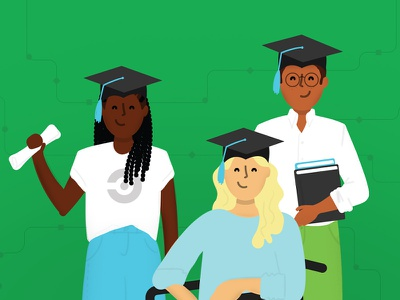 CircleCI Academy inclusion people characters diversity vector illustration
