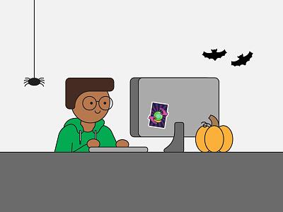 Halloween Boi halloween vector illustration