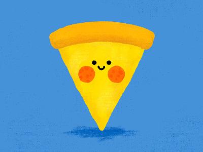 Pizza Cutie texture rosy cheeks happy face smile cute pepperoni pizza
