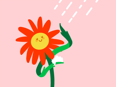 Sprin Cleaning spring punny pun flower illustration vector wip