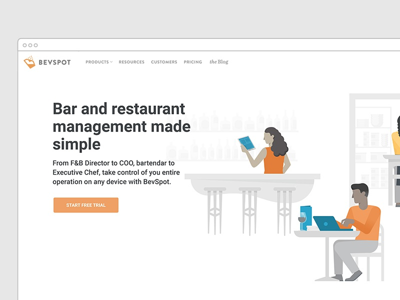 Bevspot homepage