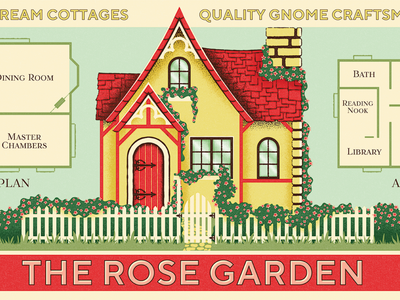 Fontacular | Fairytale Field Guide retro home ad vintage realestate gnome fonts specimen fairytale cottage