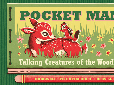 Fontacular | Fairytale Field Guide retro vintage field guide meadow pocket manual woodland animals specimen fonts woodland magic fairytale