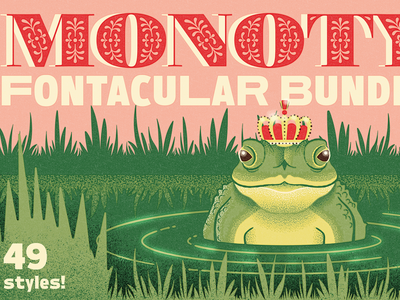 Fontacular | Fairytale Field Guide fonts type specimen pond field guide storybook vintage retro king magic fairytale toad frog