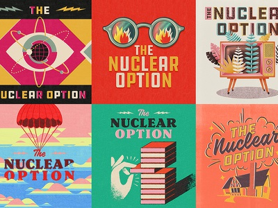 The Nuclear Option cover art midcentury renewal chaos choice bomb survival risk atomic retro nuclear podcast