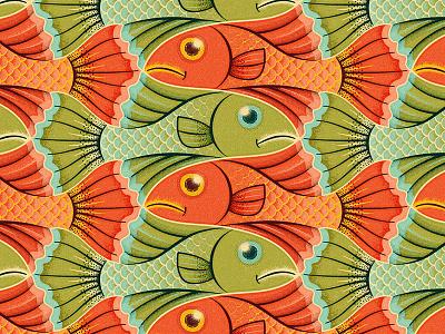 Fish Tessellation sea texture ocean scales escher fish pattern tessellation