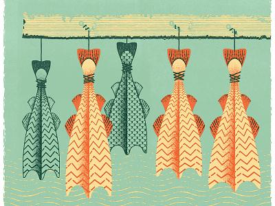 How To Cure Cod retro newfoundland ocean cure fish canada atlantic midcentury canadiana cod
