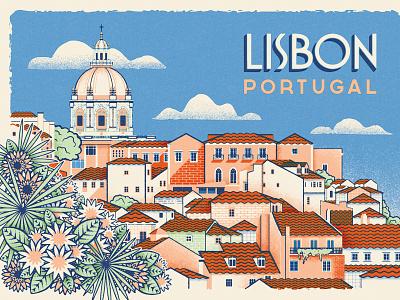Herb Lester Postcard - How To Find Old Lisbon ephemera retro vintage travel portugal old lisbon lisbon postcard