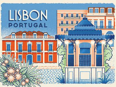 How to Find Old Lisbon - Postcard 2 print design ephemeral kiosk vintage travel portugal old lisbon lisbon postcard