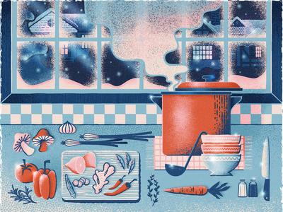 """Avenue Magazine """"Well Seasoned"""" Illustration"""