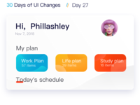 Day27 The  schedule UI