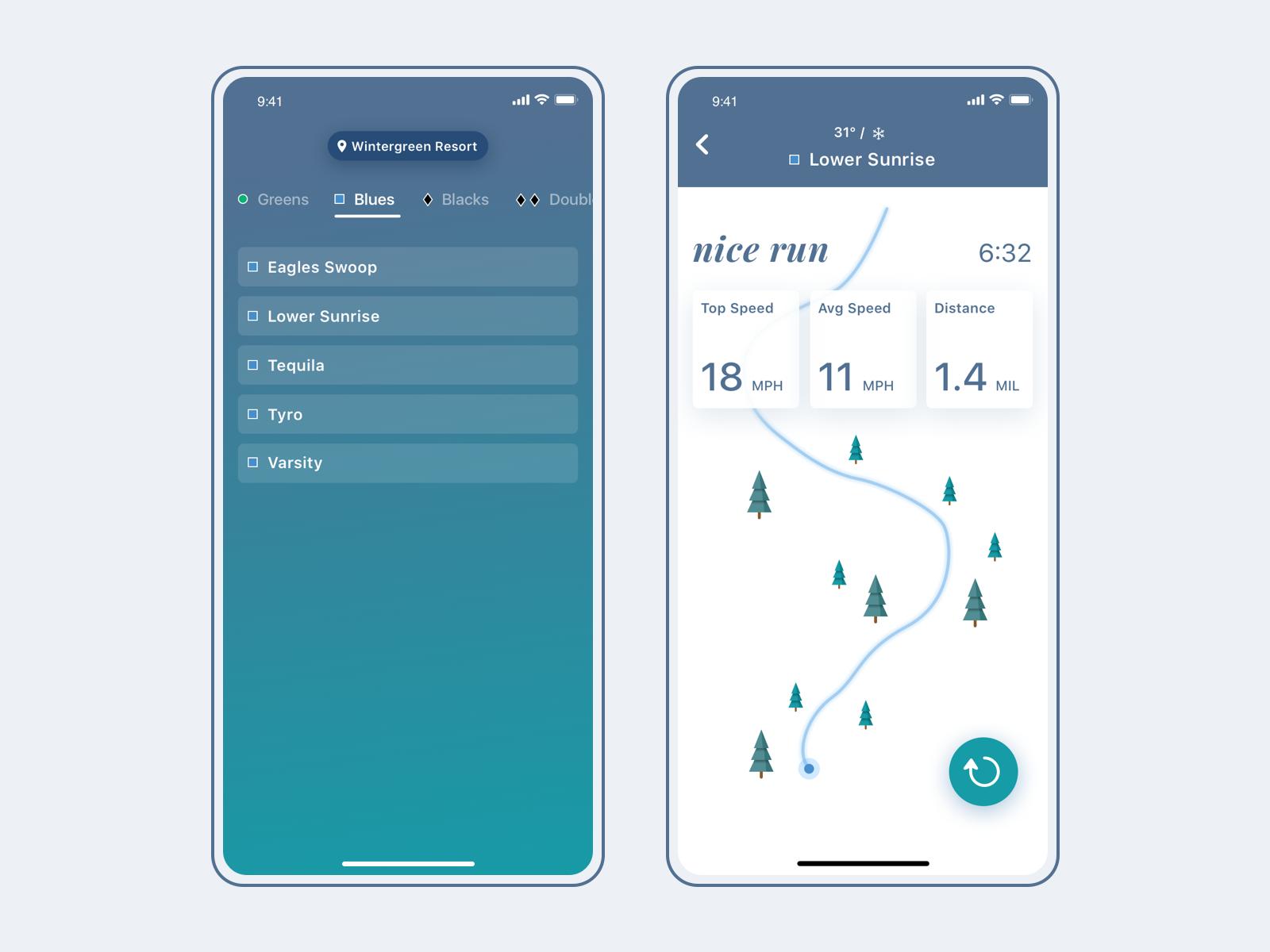 Ski app concept