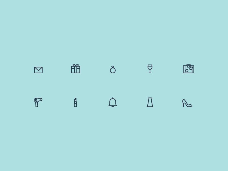 Icons seafoam grid
