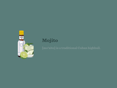Mojito illustration cocktail