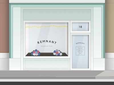 Remnant storefront retail illustration typeface
