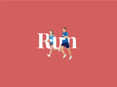 Run run type running illustration