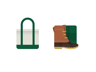 Material Bean Product Icons product icon android app icon outdoors tote bag boot illustration material design material